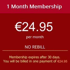 one month membership no rebill