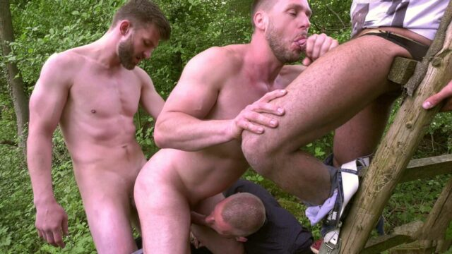 gay outdoor group sex